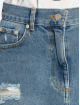 NA-KD Sukně Distressed Denim Mini modrý