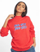 NA-KD Sweat & Pull High Collar rouge 0
