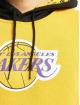 New Era Bluzy z kapturem NBA LA Lakers Colour Block czarny
