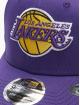 New Era Snapback Caps NBA LA Lakers Team Stretch fioletowy