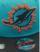 New Era Snapback Caps NFL Miami Dolphins Sideline Road 9Fifty turkusowy