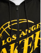 New Era Sudaderas con cremallera NBA Los Angeles Lakers Enlarged Logo negro