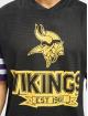 New Era T-Shirty NFL Minnesota Vikings Contrast Sleeve Oversize czarny