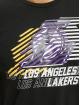 New Era T-skjorter NBA LA Lakers Logo Repeat svart