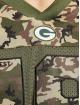 New Era Tričká NFL Green Bay Packers Camo Infill Oversized Mesh olivová