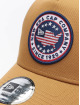 New Era Trucker Caps USA Patch beige