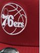 New Era Trucker Caps NBA Philadelphia 76ers Essential 9forty A-Frame czerwony 3