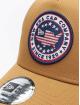 New Era Truckerkeps USA Patch beige