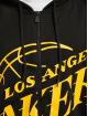 New Era Zip Hoodie NBA Los Angeles Lakers Enlarged Logo black