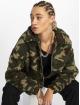 New Look Bomber jacket Camo Teddy Borg green 0