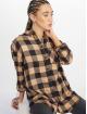 New Look Hemd Erin Camel Check PKT braun 0