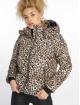 New Look Puffer Jacket Animal Print braun