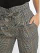 New Look Spodnie wizytowe Rome Check Tie Waist szary 3