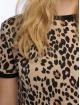 New Look t-shirt Leopard AOP bruin 3