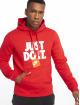 Nike Bluzy z kapturem DI PO Fleece czerwony 0