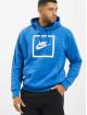 Nike Bluzy z kapturem Air 5 niebieski