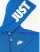 Nike Jumpsuits Nkn Hooded Baby Ft Coveral modrý
