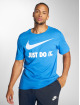 "Nike T-Shirt Sportswear ""just Do It."" Swoosh bleu 1"