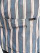 Nudie Jeans Hemd Svante Cuban Stripe blau 3