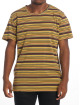 Nudie Jeans T-Shirt Anders Overdyed Stripes braun 1