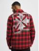 Off-White Camisa Check Flannel rojo