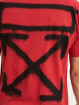 Off-White T-shirt Spray Marker röd