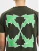 Off-White T-Shirty Bolt Arrow S/S Slim zielony