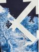 Off-White Tričká Skeleton Casual modrá
