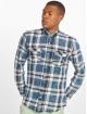 Only & Sons Skjorter onsSpruce Washed Indigo Check blå
