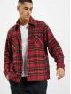 PEGADOR Koszule Flato Heavy Flannel czerwony