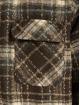 PEGADOR Übergangsjacke Fontana Hooded Zip Hairy Flannel braun