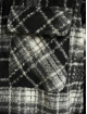 PEGADOR Välikausitakit Fontana Hooded Zip Hairy Flannel musta