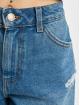 Pieces Shorts pcAva Mid Waist Destroy blau