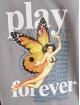 Playboy x DEF Bluzy z kapturem Fleece szary