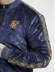 Sik Silk Bomberová bunda Debossed Velour modrá