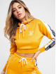 Sik Silk Hoodie Cropped 90s Panel yellow 0