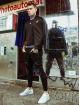 Sik Silk Jeans slim fit Elasticated Waist Distressed nero