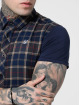 Sik Silk Kauluspaidat Flannel Standard sininen