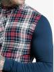 Sik Silk Košele Flannel Check Grandad modrá