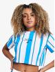 Sik Silk T-Shirt 90's Stripe Crop blau