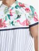 Sik Silk t-shirt Retro Tropics Baseball wit