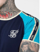 Sik Silk T-skjorter S/S Contrast Tape Gym blå