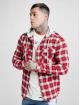 Sik Silk Übergangsjacke L/S Hooded Flannel rot