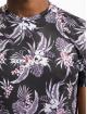 Sixth June Camiseta Flower Tie Dye V2 negro