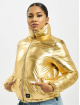 Sixth June Puffer Jacket Printed Down gold colored