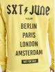 Sixth June Sweat capuche Crew jaune