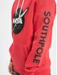 Southpole Felpa con cappuccio Nasa Insignia Logo rosso