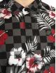 Southpole Hemd Flower & Checker Print schwarz 3