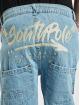 Southpole Loose Fit Jeans Script blå
