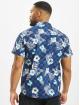 Southpole overhemd Flower & Checker blauw